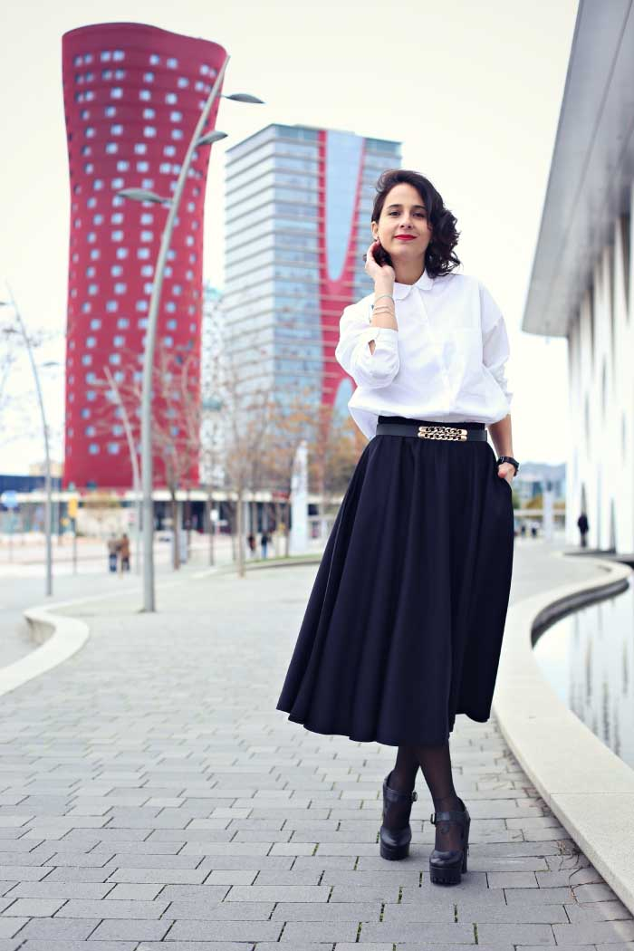 black-neoprene-skirt