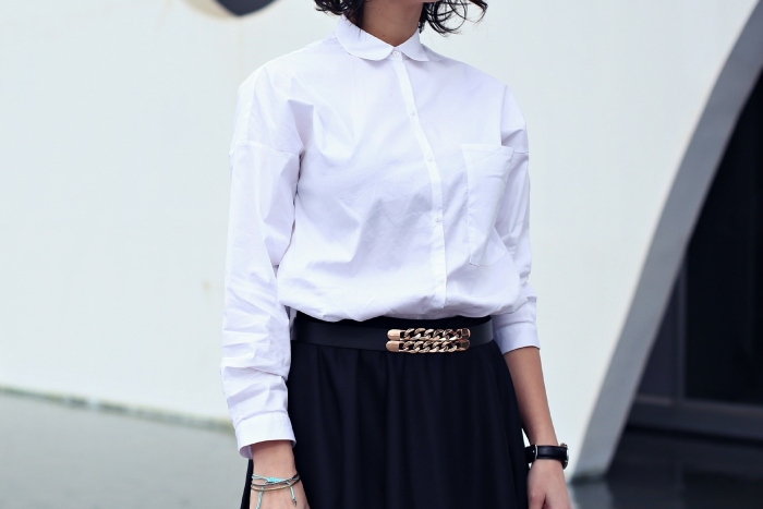 camisa-blanca-falda-negra