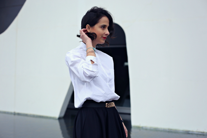 white-blouse-black-skirt