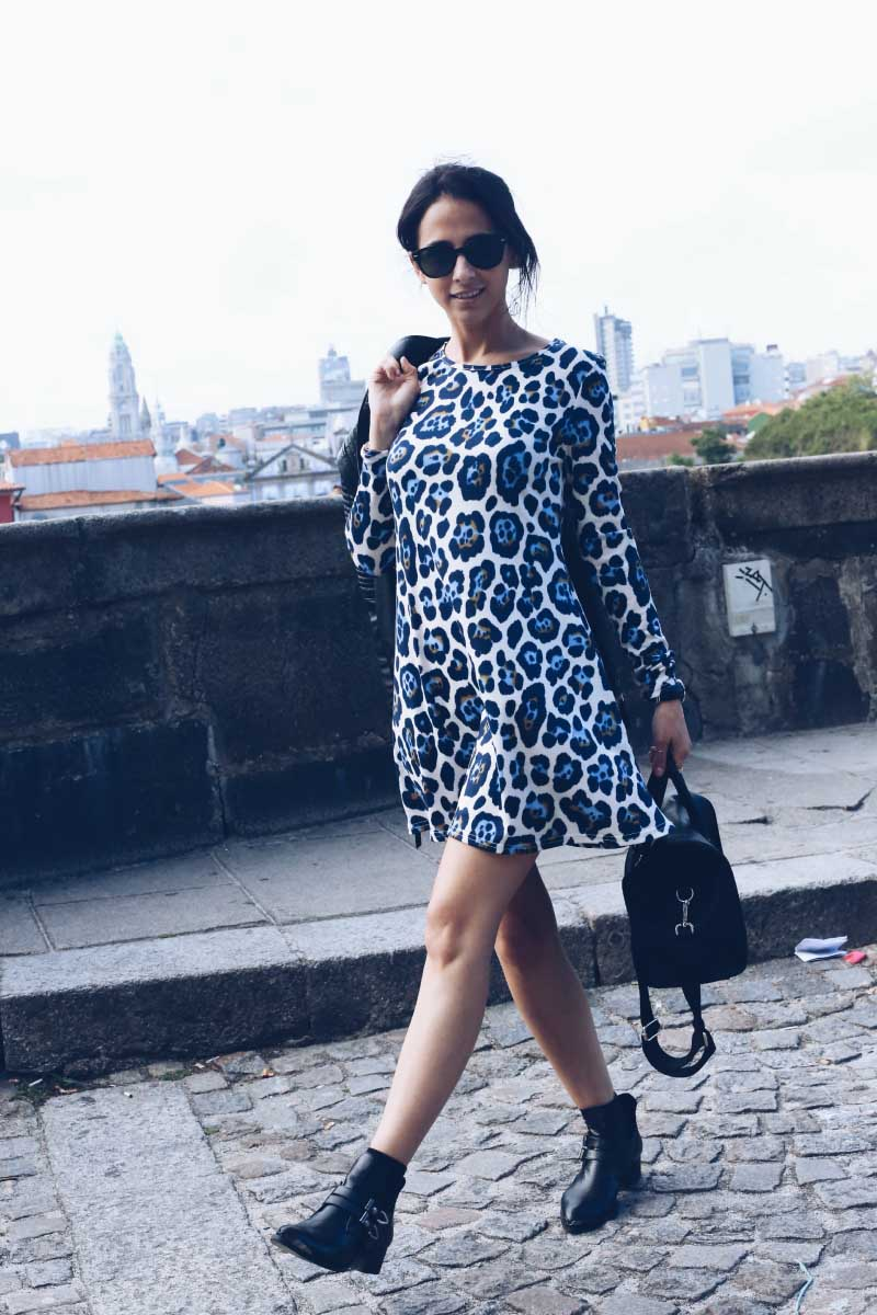1 Oporto_Street_Style_Asos_Leopard_Smock_Dress