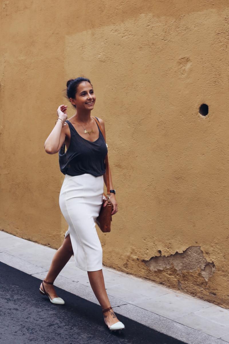 falda-tubo-blanca