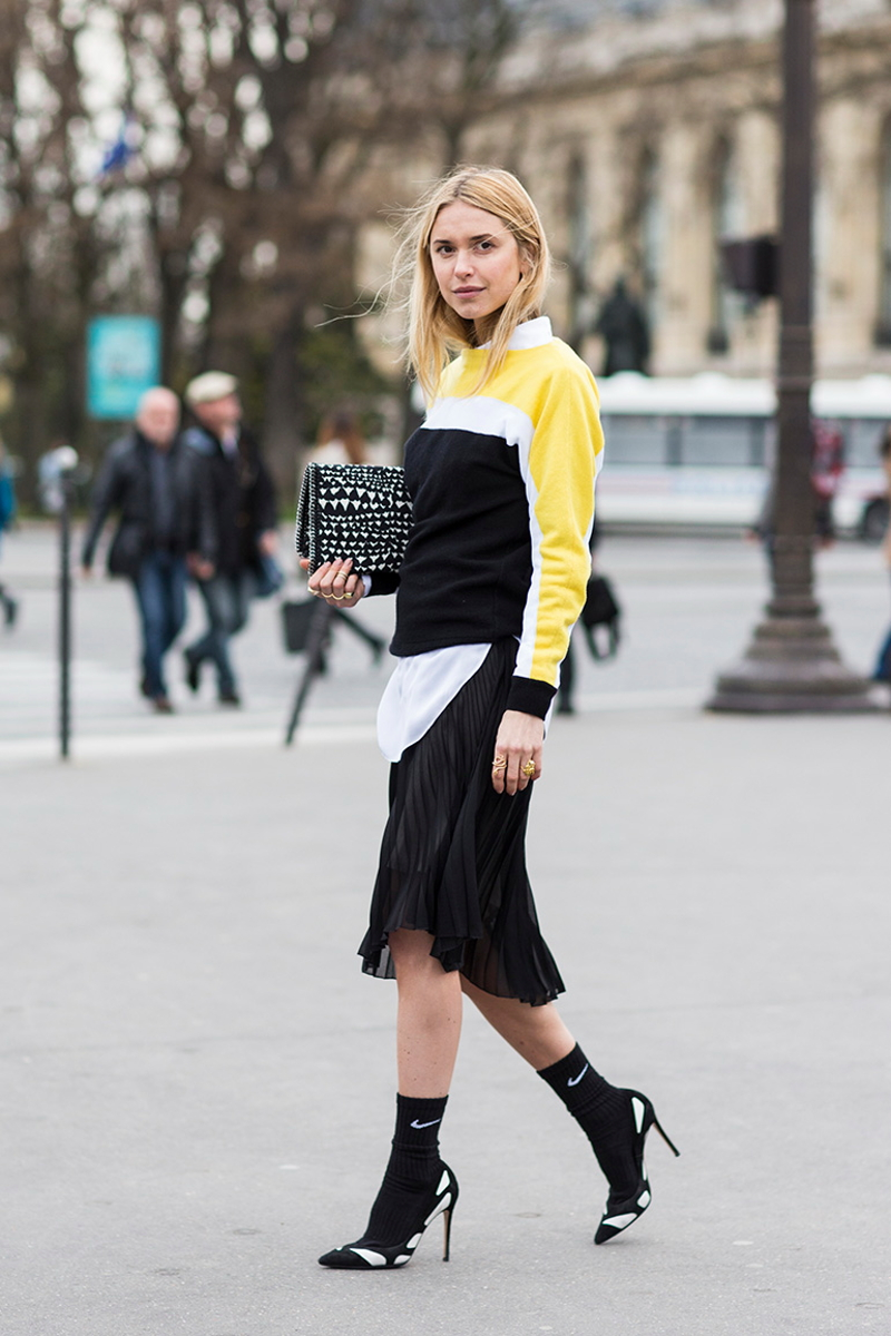 Paris Fashionweek day5, outside Chloé, pernille teisbaek