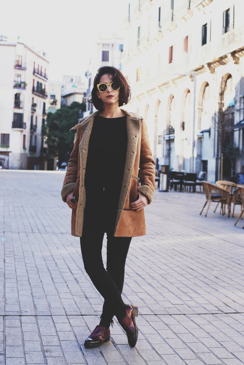 abrigo estilo borrego