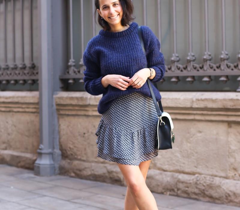 cómo llevar una falda estampada