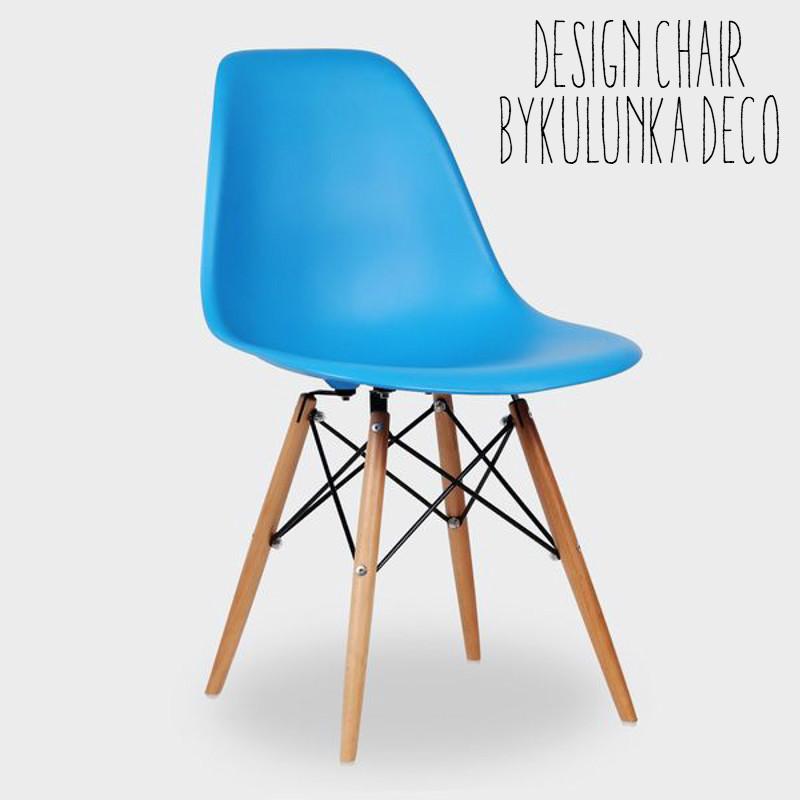 silla comedor estilo eames baby azul