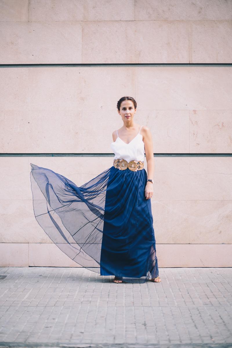 falda larga para boda de dia