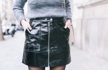 look falda de charol