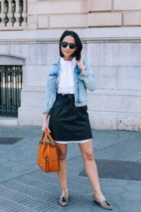 falda-piel-reciclada-ecologica-cinturon-camisa-blanca-barcelona-street-style-IMG_5108