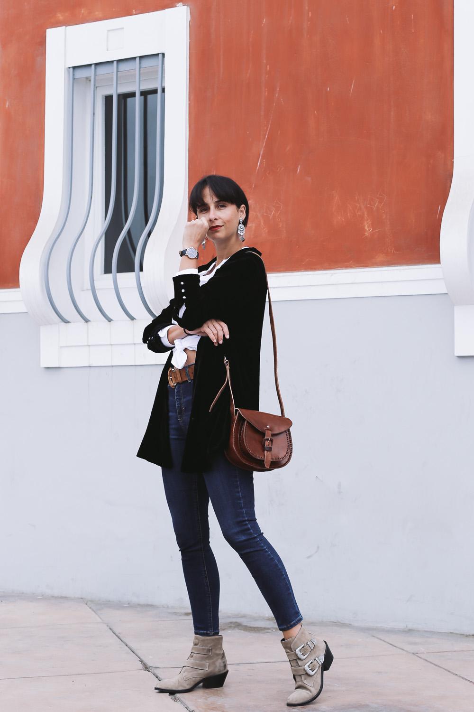 street style blazer de terciopelo