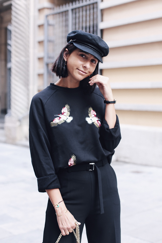 pantalón negro maje