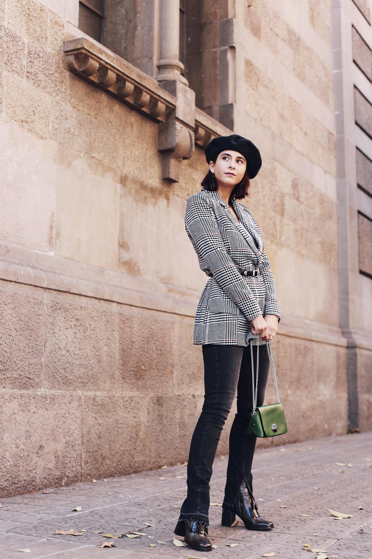 look invierno con chaquetas a cuadros