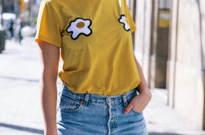 camiseta huevos fritos