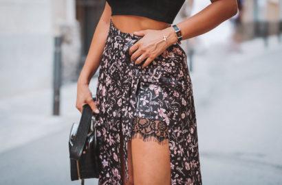 falda con doble capa