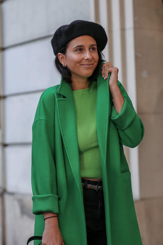 abrigo verde topshop