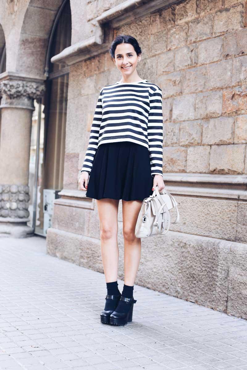 Mini falda y camiseta sin mangas